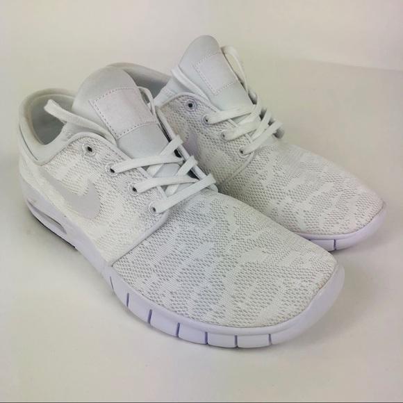 cf9d0755c2fb Nike SB Zoom Stefan Janoski White 9.5 Skate Shoes